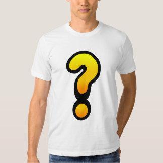 Ponto de interrogação e marca de exclamação tshirts