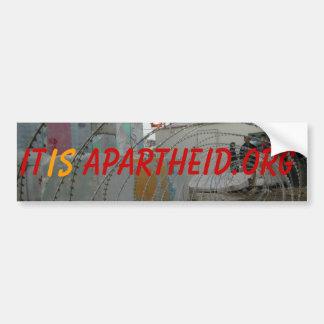 ponto de verificação, é, Apartheid.org Adesivo Para Carro