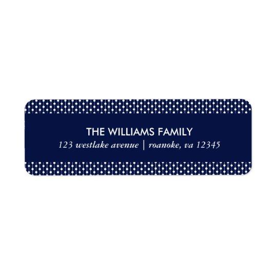Pontos azuis pequenos etiqueta endereço de retorno