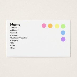 Pontos coloridos cartão de visita