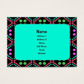 Pontos coloridos cartão de visita grande