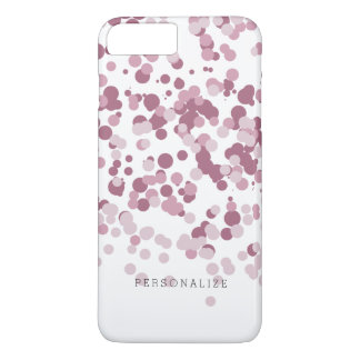 Pontos cor-de-rosa dos confetes capa iPhone 8 plus/7 plus