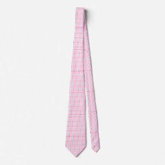 Pontos cor-de-rosa elegantes gravata