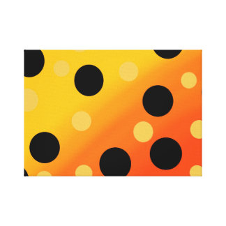 Pontos customizáveis em OrangeToYellow misturado Impressão De Canvas Esticadas