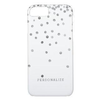 Pontos de prata dos confetes capa iPhone 8/7