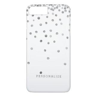 Pontos de prata dos confetes capa iPhone 8 plus/7 plus
