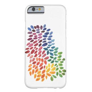 Pontos do abstrato da aguarela do arco-íris capa barely there para iPhone 6