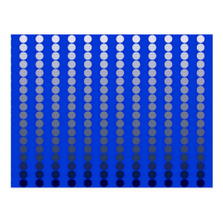 Pontos do cetim - azuis cobaltos e peltre cartão postal