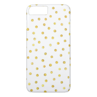 Pontos elegantes dos confetes da folha de ouro capa iPhone 8 plus/7 plus