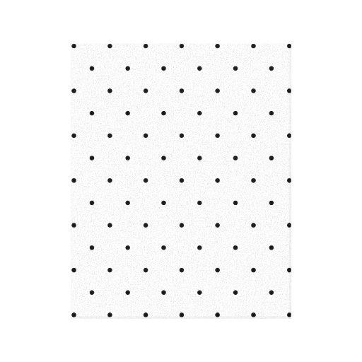 Pontos preto e branco das bolinhas impressão de canvas envolvidas