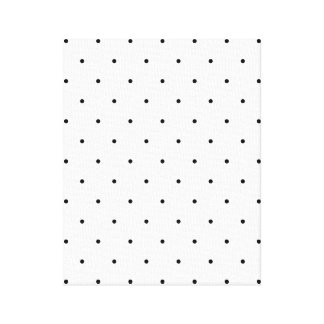 Pontos preto e branco das bolinhas impressão em tela
