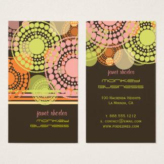 Pontos retros customizáveis de PixDezines Cartão De Visitas