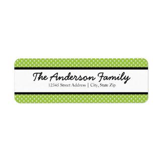 Pontos verdes & brancos - etiquetas de endereço