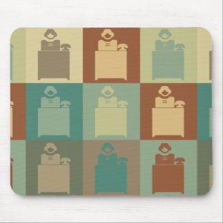 Pop art da recepção mouse pad