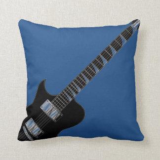 Pop art do preto azul de guitarra elétrica almofada