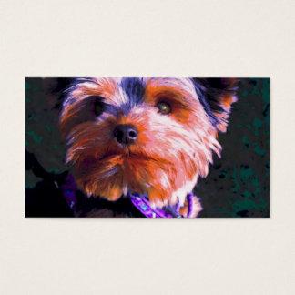 Pop art do yorkshire terrier cartão de visitas
