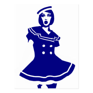 "Pop art - Seemannsbraut ""sexy"" marítimo Cartão Postal"