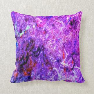 Pop do travesseiro decorativo do abstrato do roxo almofada