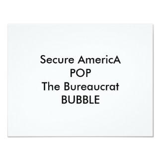POP seguro de América a BOLHA do burocrata Convite Personalizado