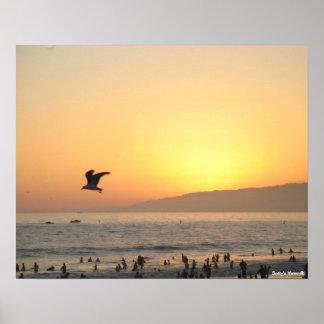 Por do sol 2 de Santa Monica Posteres
