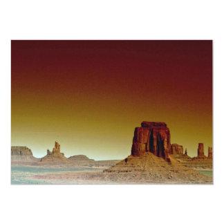 Por do sol bonito: Vale do monumento, América sul Convite 12.7 X 17.78cm
