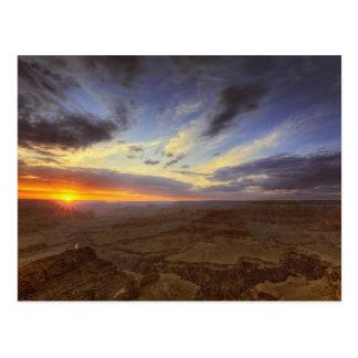 Por do sol, borda sul do Grand Canyon, grande Cartão Postal