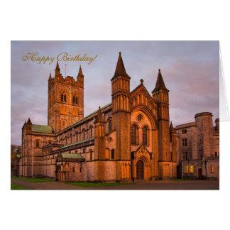 Por do sol da abadia e do ouro de Buckfast Cartoes
