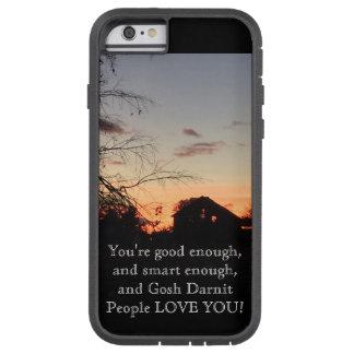 Por do sol da afirmação no exemplo de IPhone 6 da Capa Tough Xtreme Para iPhone 6