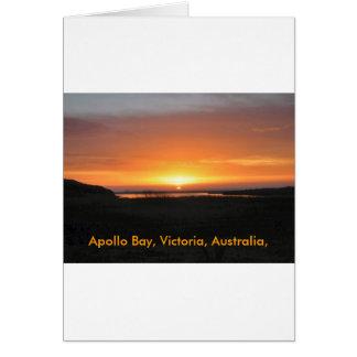 Por do sol da baía de Apollo Cartão Comemorativo