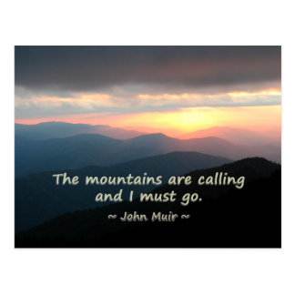 Por do sol da montanha: Mtns que chama o modelo de Cartão Postal