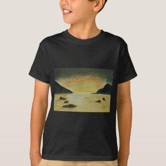 Por do sol da praia camiseta