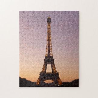 por do sol da torre Eiffel Quebra-cabeça