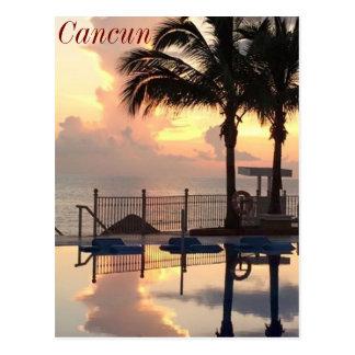 Por do sol de Cancun Cartão Postal