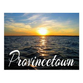Por do sol de Cape Cod, cartão das MÃES de