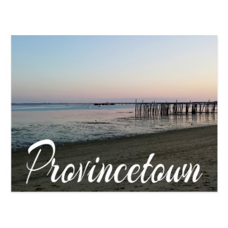 Por do sol de Cape Cod, Provincetown, MÃES de Cartão Postal