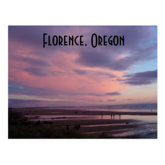 Por do sol de Florença, Oregon Cartão Postal