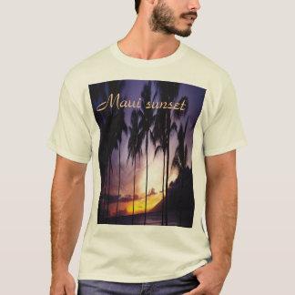 Por do sol de Maui, t-shirt