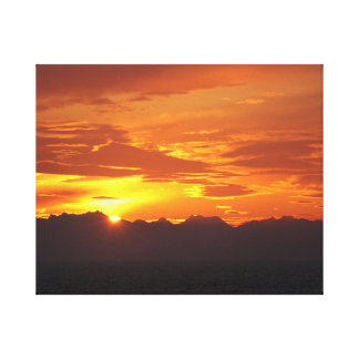 Por do sol do Alasca Impressão Em Tela