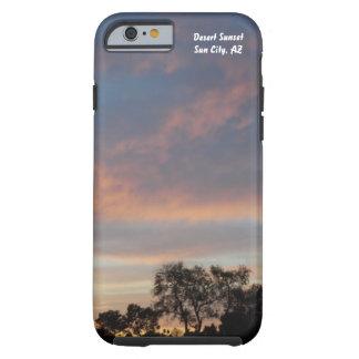 Por do sol do deserto mim capa de telefone 1