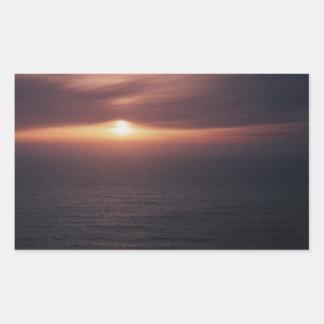 Por do sol em Florença Oregon Adesivo Retangular