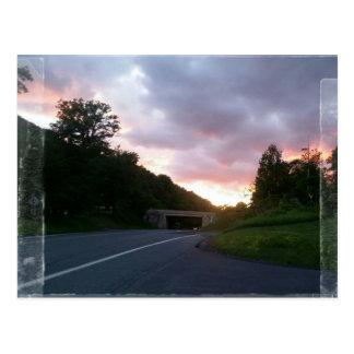 Por do sol em Gap Cartão Postal