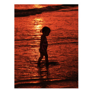Por do sol em uma praia de Anna Maria Cartão Postal