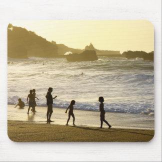 Por do sol na paisagem francesa Mousepad da praia