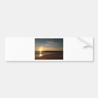 Por do sol na praia adesivo para carro