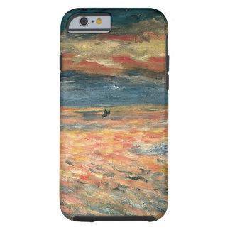 Por do sol no mar por Renoir, arte do Capa Tough Para iPhone 6