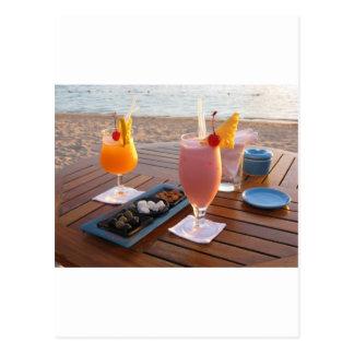 por do sol romântico cartão postal