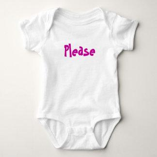 Por favor e obrigado t-shirts