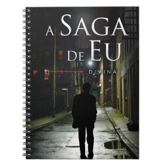 "Por Joel Puga de Capa de ""Justiça Divina"" Caderno Espiral"