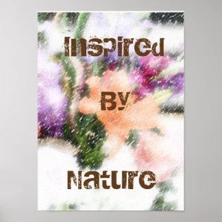 Por natureza poster inspirado floral da arte