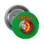 """Por Portugueses do Bola de """"Portugal"""" Bóton Redondo 5.08cm"""